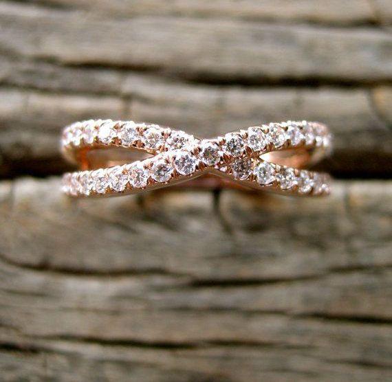 Alianças de casamento em ouro rosé
