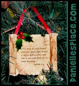 Bible Scroll Christmas Ornament Craft for Kids from www.daniellesplace.com