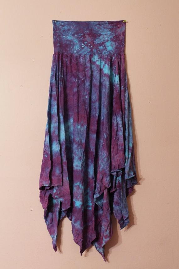 Organic convertible pixie skirt dress asymmetrical by MindingMilo, $90.00