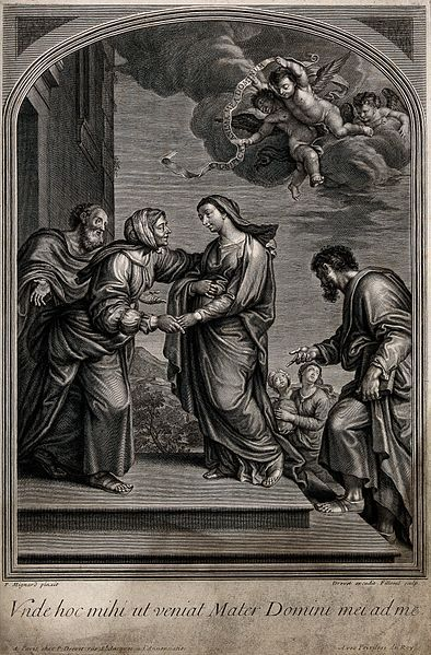 File:The Visitation of Mary to Elizabeth. Engraving. Wellcome V0034588.jpg: