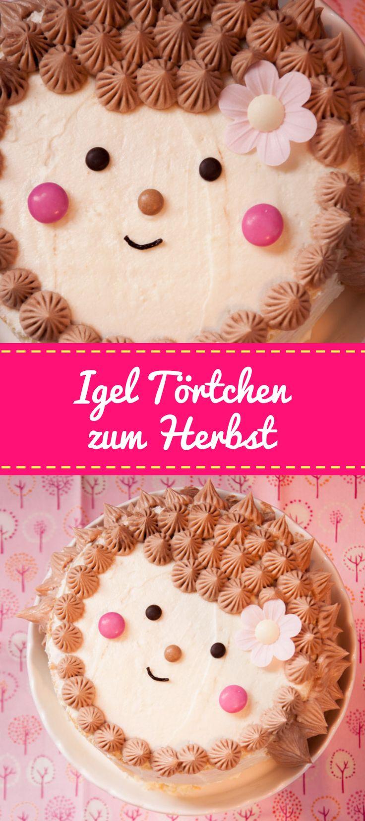Diese süße Igel-Torte passt wunderbar in den Herbst und an den Geburtstag jedes Mädchens …   – Blogger Rezepte
