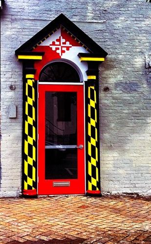 Maryland Themed Doorway in Hagerstown MD ~Hmm.... wonder if I should do that?! LOL