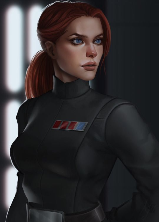 "Female officer, #StarWars  ""Imperial Officer"" by Alexandra Jury"