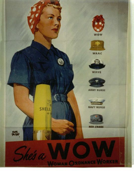 Woman Ordnance Worker (Bomb Girl) female workers of