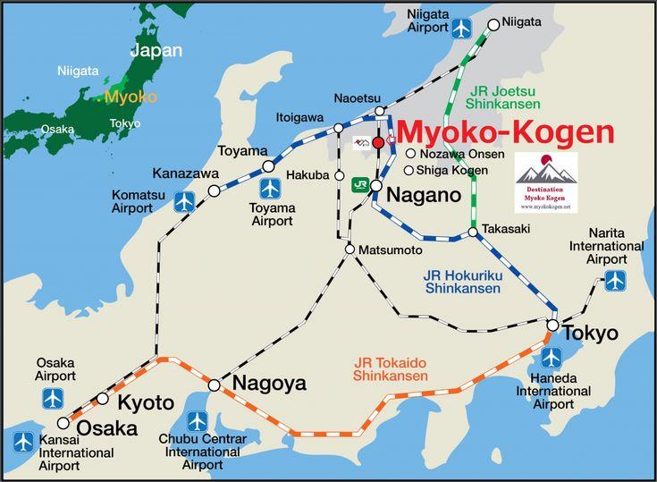 getting to myoko kogen, myoko transport map
