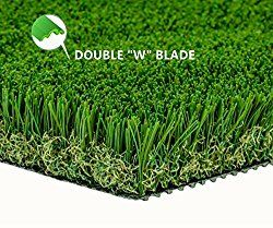 """MTBRO Artificial Grass Rug 28""""X40"""" (3ft X 5ft and 5ft X 13ft Available), Realistic Indoor/Outdoor Artificial Turf, Grass Door Mat, Blade Height 1.5″,100oz/sq.yard"""