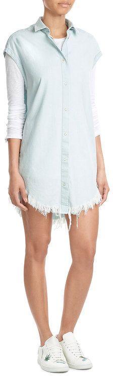 IRO Sleeveless Denim Shirt Dress
