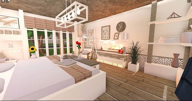 Bedroom Idea Made By Itimdesxgner Tags Bloxburg Bloxburgbuilds Bloxburg Contemporary Bedroom Design Tiny House Bedroom Home Building Design Guest bedroom ideas bloxburg