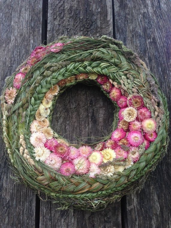 Summer wreath  Home Decor  Spring Wreath by CadeauDeLaNature