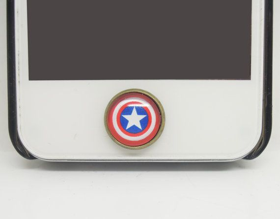 Captain America Home Button Sticker for iPhone