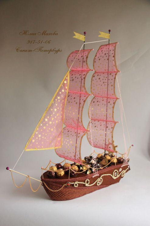 Gallery.ru / Корабль-конфетница - Корабли из конфет в СПб - MamaYulia