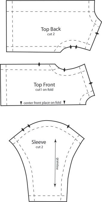 Here is a simple long sleeved top for Barbie. Pair with the Ruffled Skirt, Vest and Pants, or A-Line Skirt.  Instructions for saving and printing jpg or pdf files are here. Download pdf file …