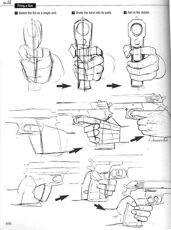 "Hand references. From Graphic Sha's ""How to Draw Manga: Drawing 