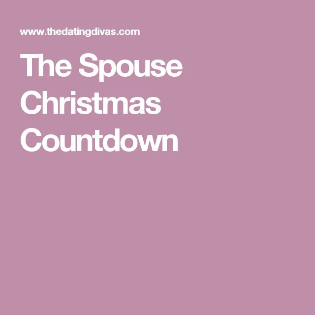The Spouse Christmas Countdown