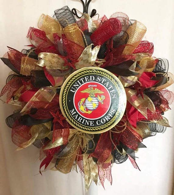 Marine Corp Wreath Usmc Wreath Patriotic By