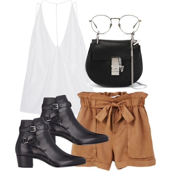 A fashion look from June 2016 featuring Cushnie Et Ochs tops, MANGO shorts and Yves Saint Laurent ankle booties. Browse and shop related looks.