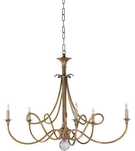 Visual Comfort SC5005HAB Studio Twist 5 Light 36 inch Hand-Rubbed Antique Brass Chandelier Ceiling Light #visualcomfort…