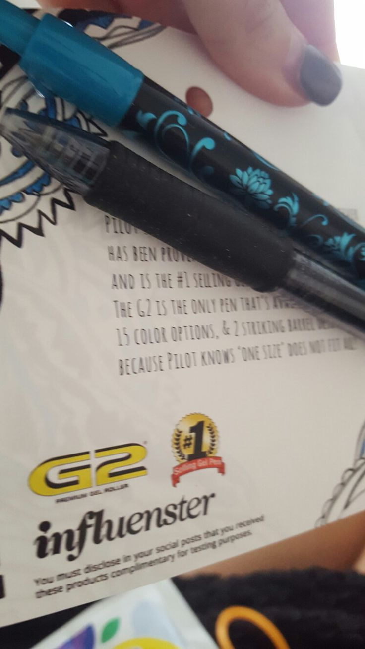 G2 Pilot Pens #B2SVoxBox given to me by Influenster to test and review!  love love love!