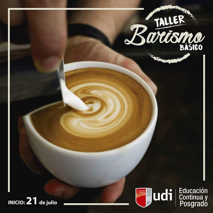 """""""Taller de Barismo Básico""""... ¡Cupos limitados!!! ¿Qué mejor forma de iniciar el día con una taza de café? ☕  ¡Complace a tu paladar!!!  Te enseñamos las técnicas más necesarias para realizar elaboraciones especializadas en el café de alta calidad. ¡Aprovecha esta gran oportunidad!!! Inicio de clases: viernes 21 de julio. #barismo #universidadudi #aprendehaciendo #vivilaexperienciaudi #educacionsuperior Mayor Información: 3422525 Int. 138 ó 132 educacioncontinua@udi.edu.bo"""