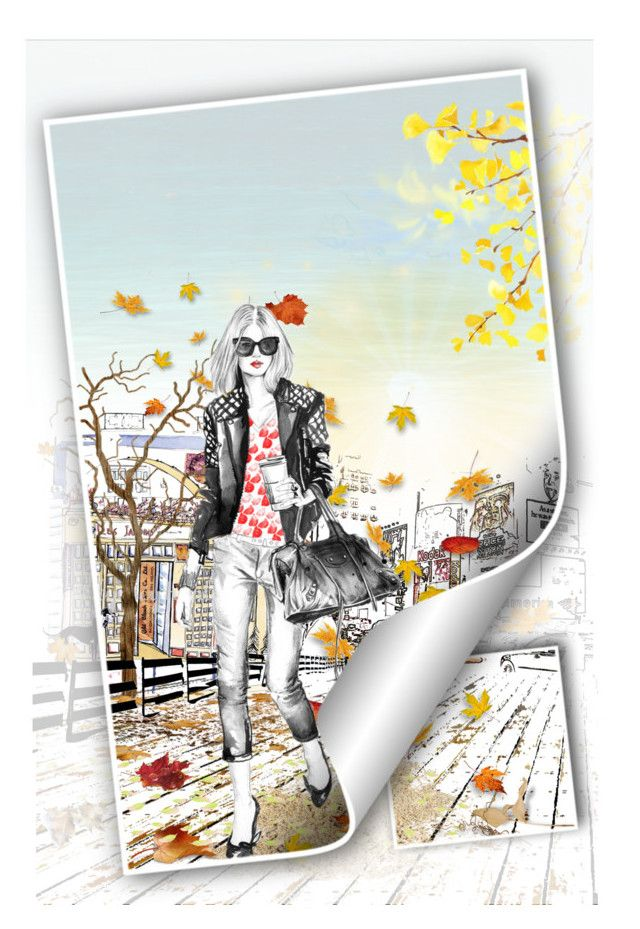 c'est l'automne by koddey on Polyvore featuring art