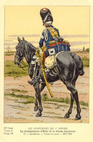French; Imperial Guard, Gendarmes d'Elite, Gendarme, Tenue de Route, 1805-10
