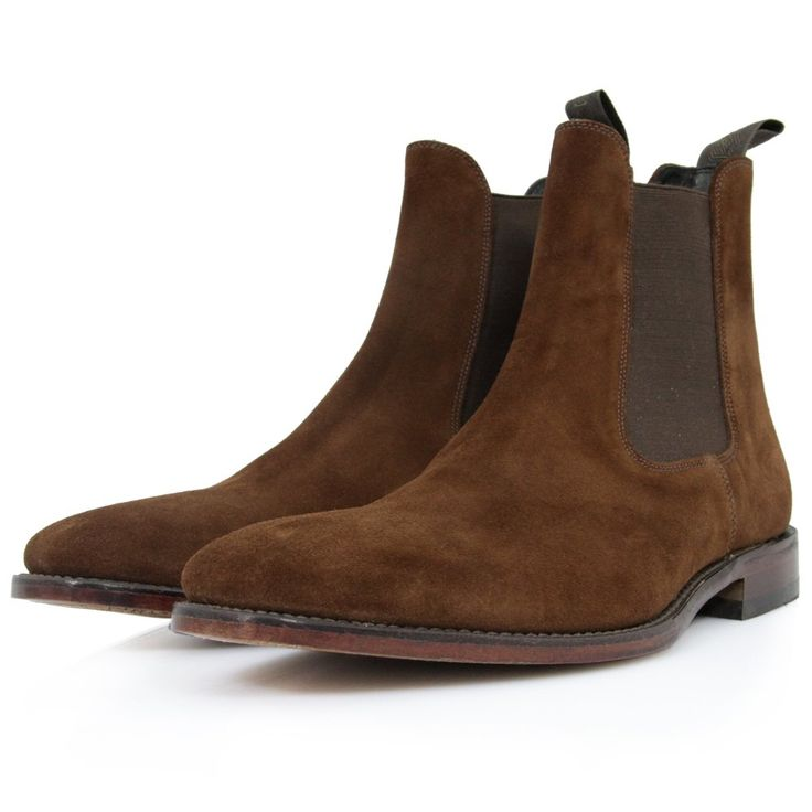 Loake Mitchum Brown Suede Leather Chelsea Boot