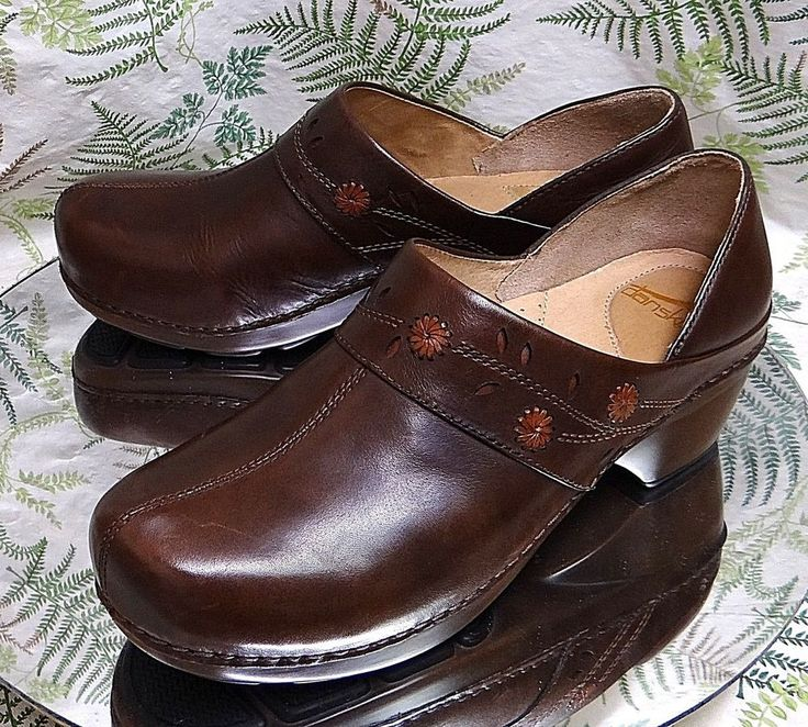 DANSKO BROWN LEATHER LOAFERS SLIP ONS WORK DRESS SHOES WOMENS SZ 10.5 11 EU 41 #Dansko #Clogs