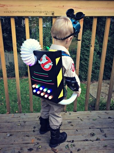 So you want (need) to build a proton pack? | the Sisterhood of the Training Pants  Proton pack toddler Ghostbusters Halloween  Homemade costume