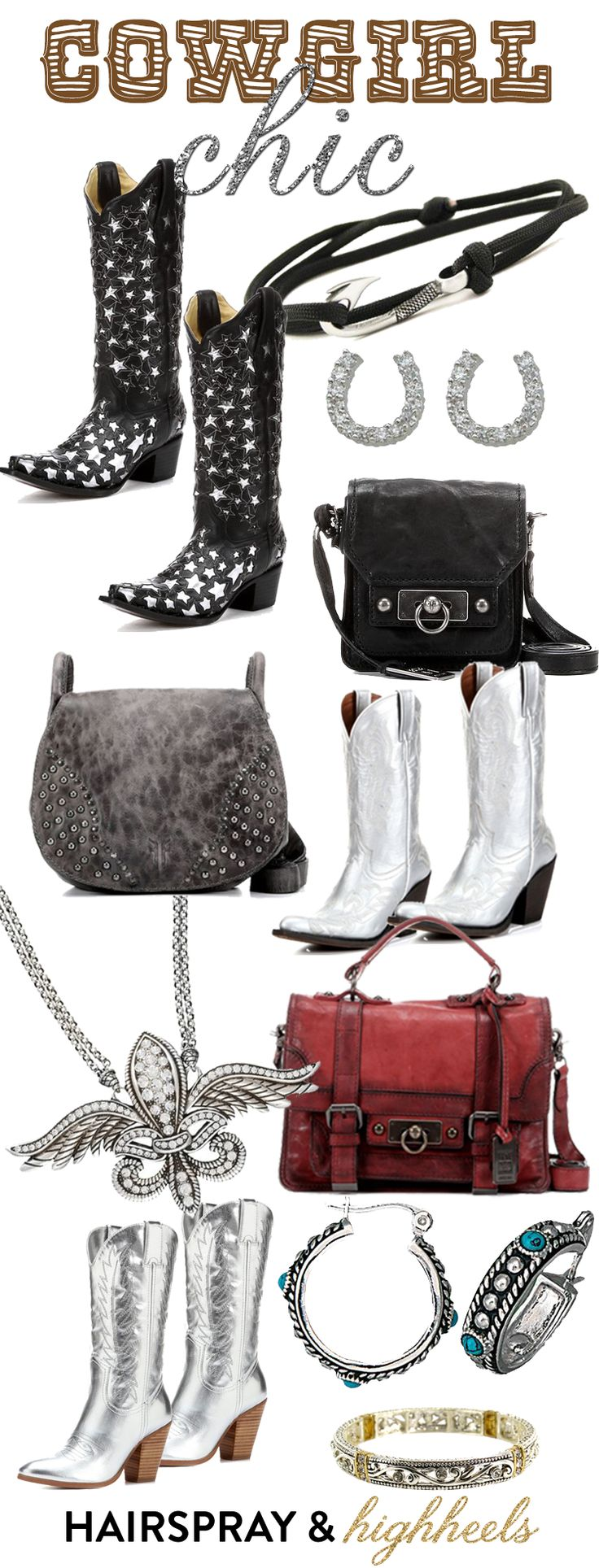 Silver Boots Trend: Cowgirl Chic - Hairspray and Highheels