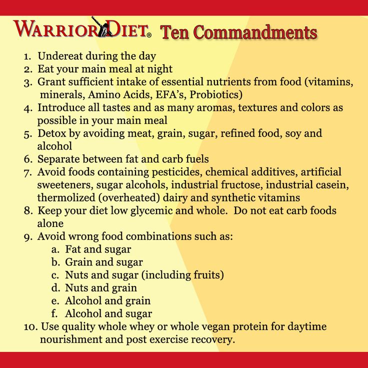 The Warrior Diet® Ten Commandments
