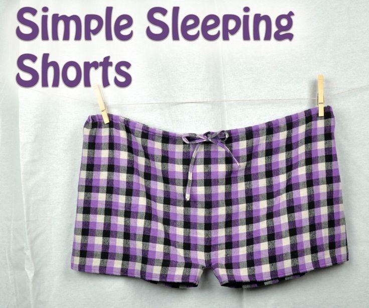 DIY Simple Sleeping Shorts