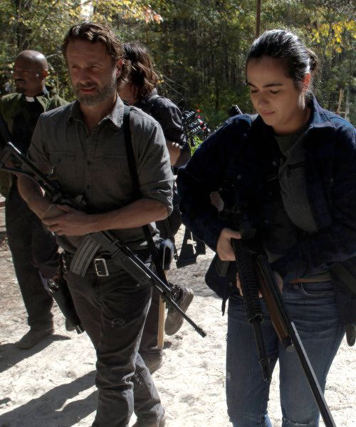 """ Rick, Tara and Father Gabriel in The Walking Dead Season 7 Episode 15 