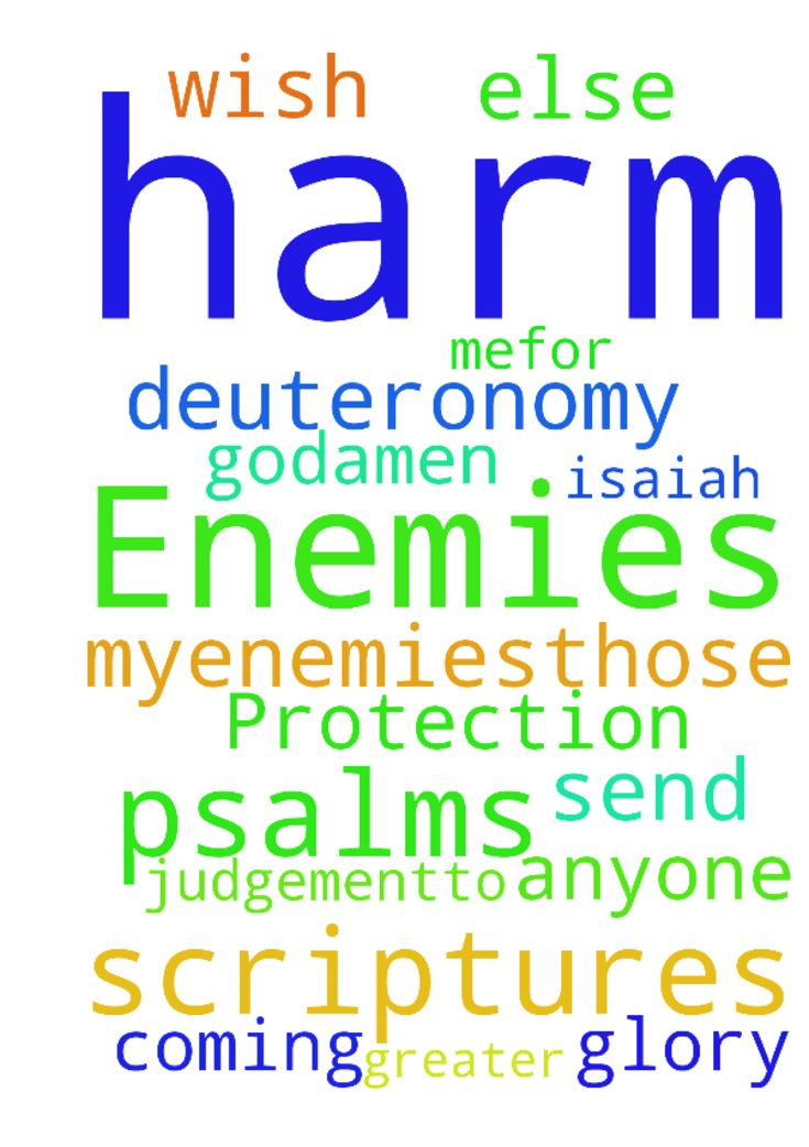Protection Against Enemies -  JESUS, in your name send your judgementto myenemies,those that wish me harm. I pray Deuteronomy 307, Psalms 109 and 140, Isaiah 5417, and any like Scriptures on them, and anyone else coming against me.For the greater glory of God,AMEN  Posted at: https://prayerrequest.com/t/BxT #pray #prayer #request #prayerrequest