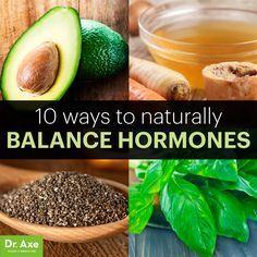 naturally balance hormones http://www.draxe.com #health #holistic #natural