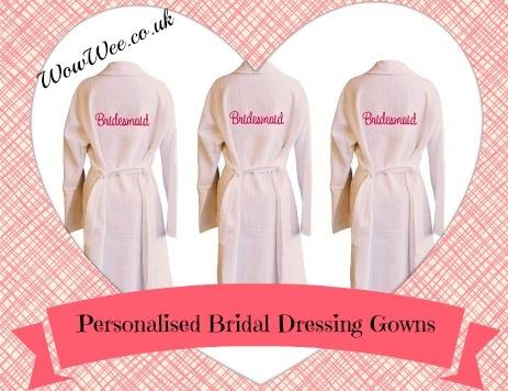 Personalised Bridal Dressing Gowns at WowWee.co.uk #Bride #Bridal #BridalParty #Wedding #BridalShower