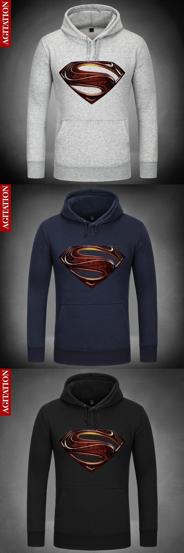 Man of Steel (Film) Superman Symbolize Hoody Coat Pullover Hoodies Sweatshirt DC Comics  Sweatshirts Outerwear Clothes