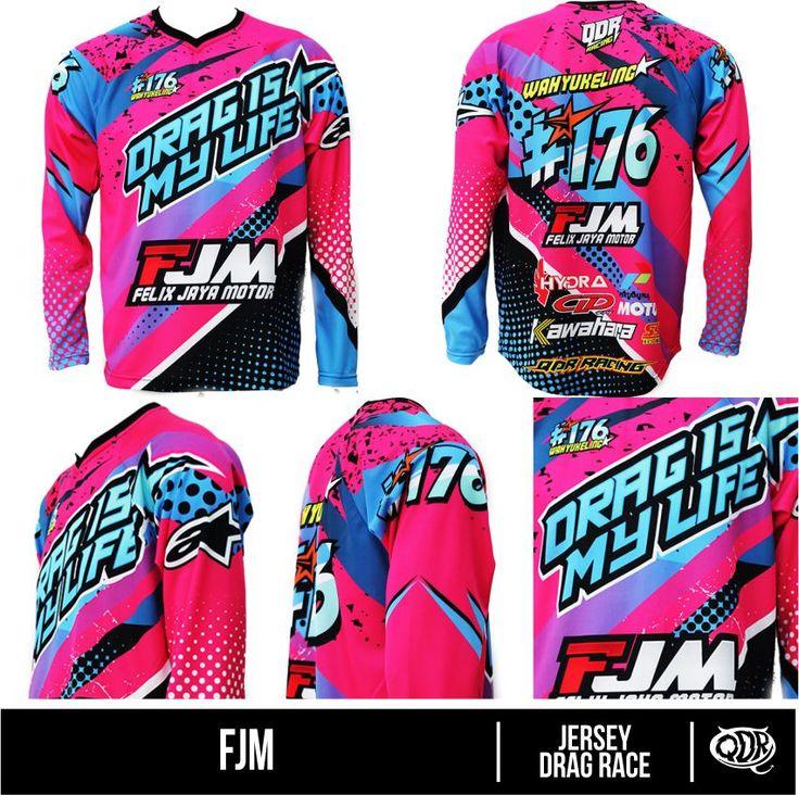 Jersey Drag Race - FJM Bahan: Dry-fit polyester printing: sublimasi (Gratis penambahan nama,nomer,sponsor/custom desain sendiri) pemesanan hub: BBM 543d3dbb Qdr Online shop WA 081222970120