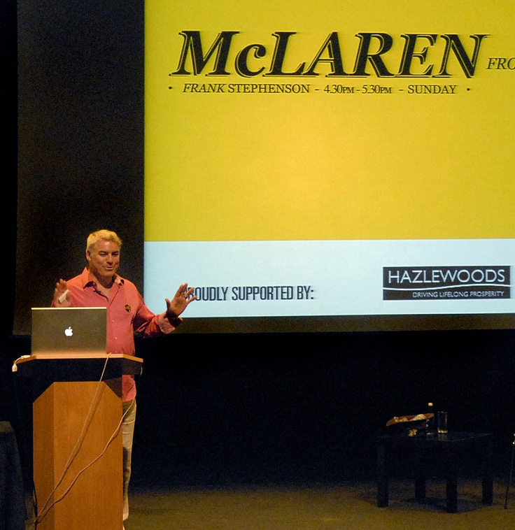 Legendary car designer Frank Stephenson has designed the Maserati MC12, Ferrari F430,  BMW X5 and the new Mini, among others. He spoke at the Festival about how McLaren are taking their technology from the racetrack to the road.