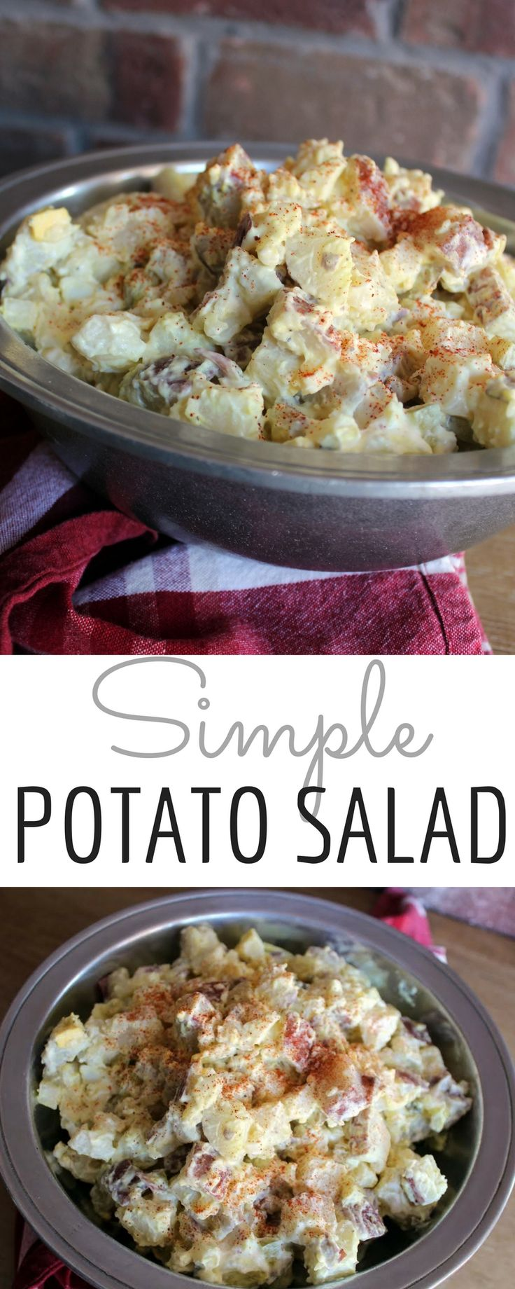 This easy 5 step homemade potato salad recipe pairs perfectly with fried chicken and homemade biscuits on Sunday afternoon.