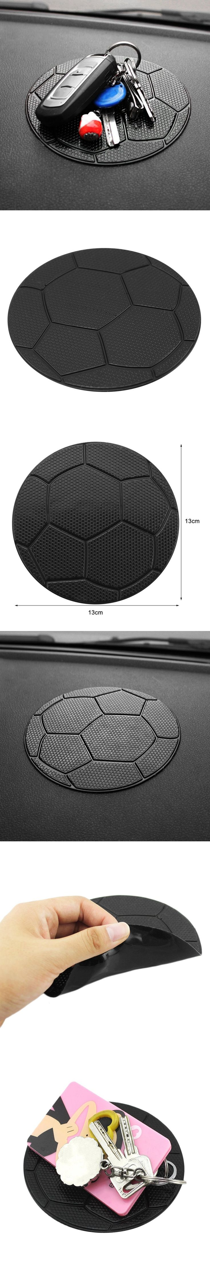 Newest Silicone Anti Slip Football Pattern Car Styling Sticky Pad Cushion for Cell Phone Coins Key Chain Sunglasses Car-styling