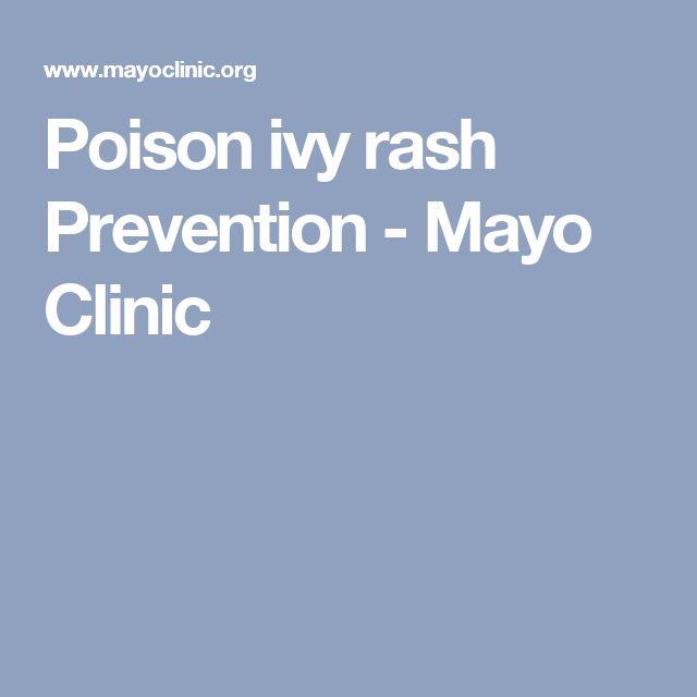 Poison ivy rash Prevention - Mayo Clinic