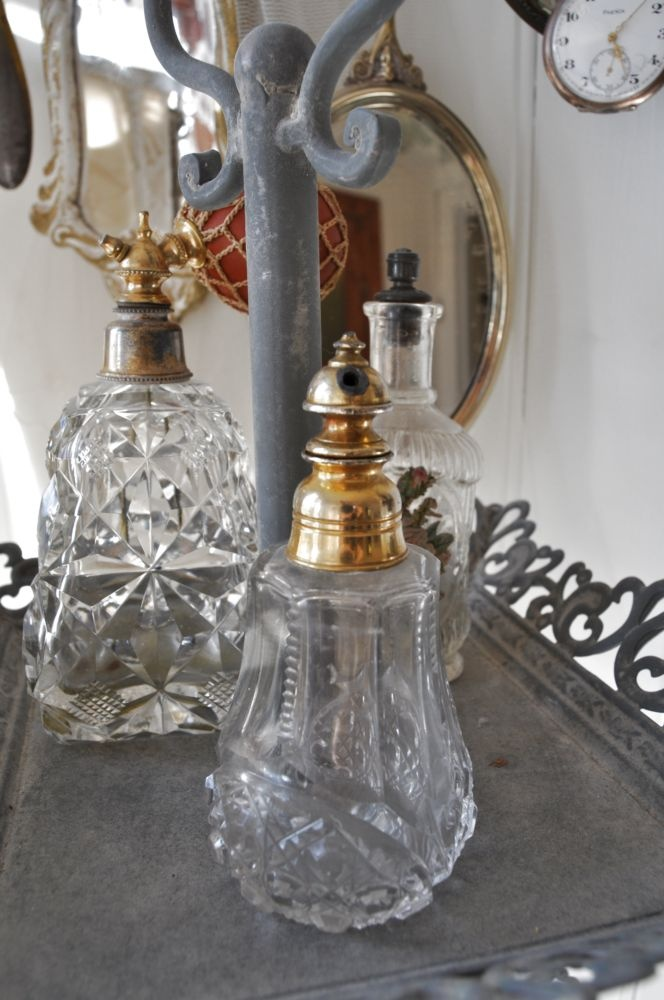Nice old perfume bottles...Collect my families old perfume bottles...Love! <3