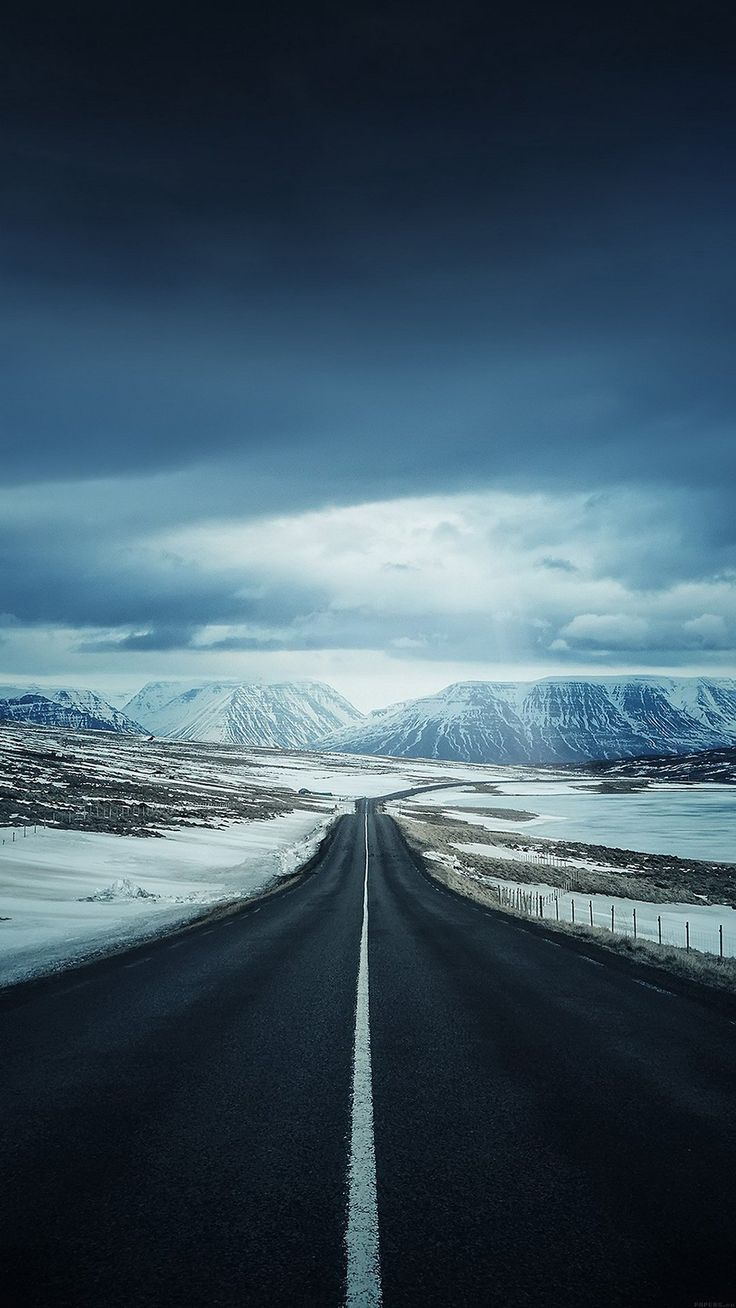Iphone wallpaper tumblr snow - Lonely Mountain Valley Road Iphone 6 Plus Hd Wallpaper