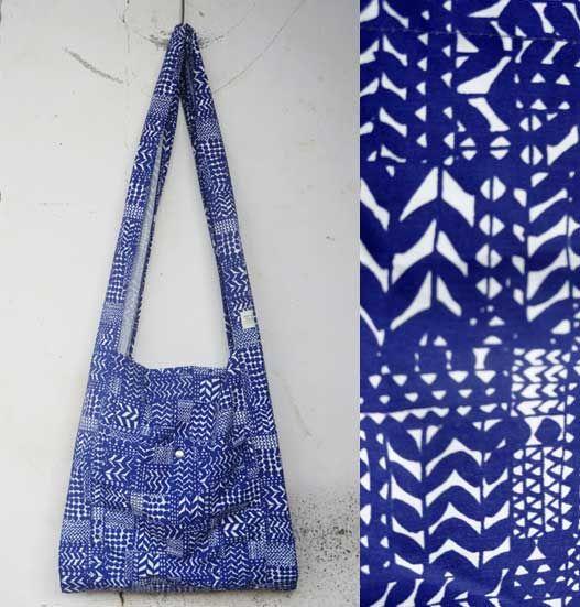 blue pattern BAG