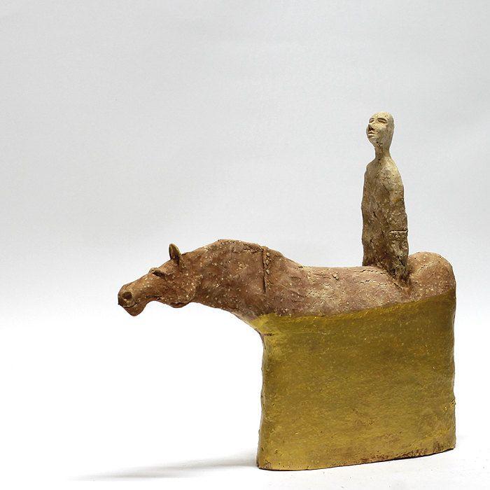 Half golden ride/Ceramic Sculptures/Unique Ceramic Figurine/Centaur / Unique home decor by arekszwed on Etsy