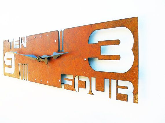 Hey, I found this really awesome Etsy listing at https://www.etsy.com/listing/97604223/outnumbered-iv-modern-wall-clock-extra