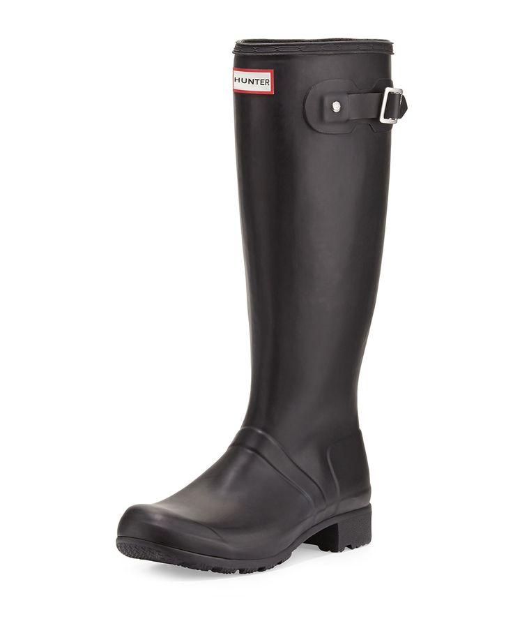 Original Tour Buckled Welly Boot, Black, Women's, Size: 5B - Hunter Boot