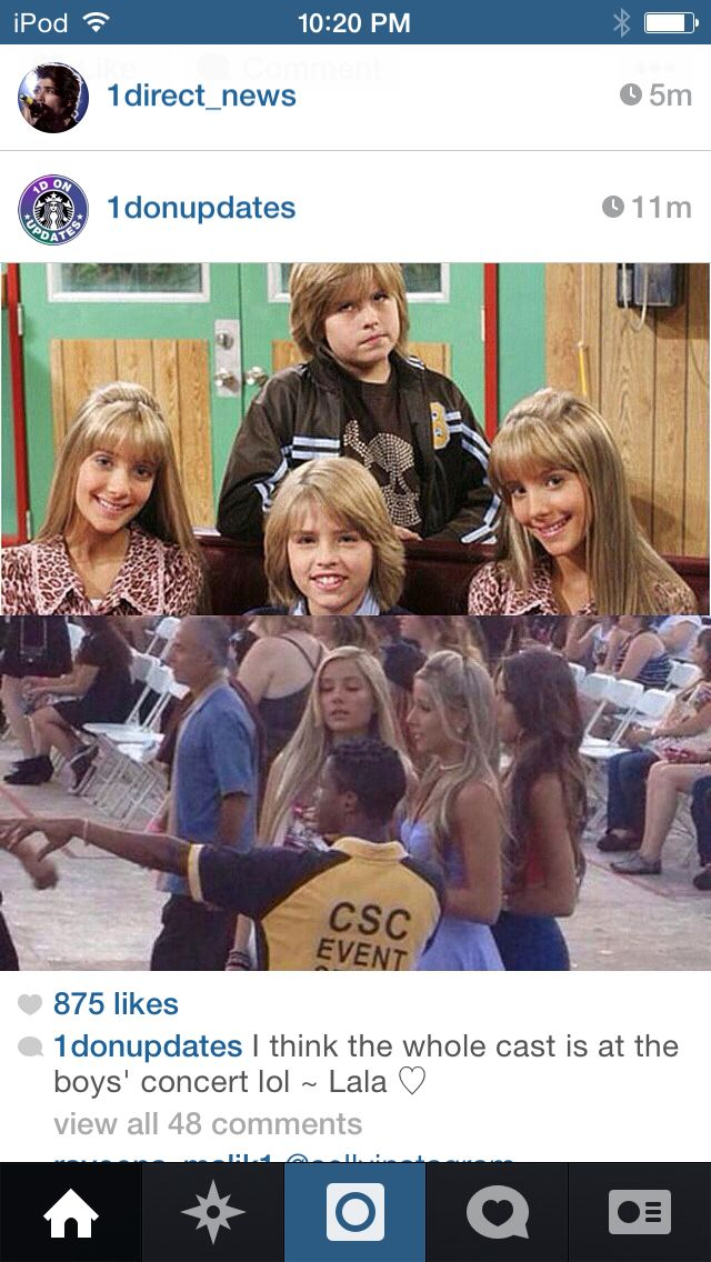 So, The Suite Life of Zack and Cody's cast had a reunion at the boy's concert.