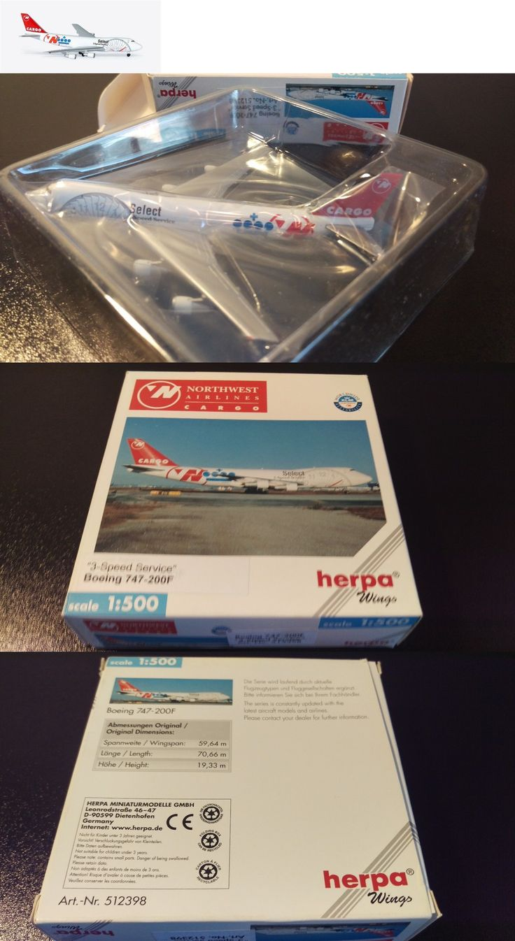 Vintage Manufacture 2650: Herpa 512398 Northwest Airlines Boeing 747-200F 3-Speed Service 1 500 Scale -> BUY IT NOW ONLY: $31.46 on eBay!