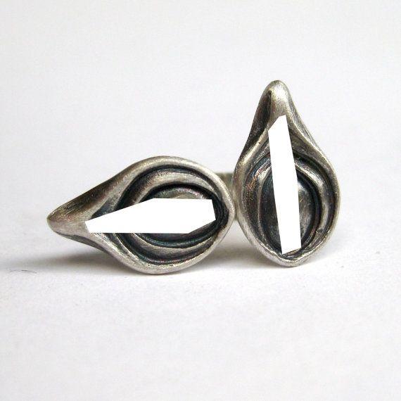 Vulva stud earrings  sterling silver by SuKeatesJewellery on Etsy